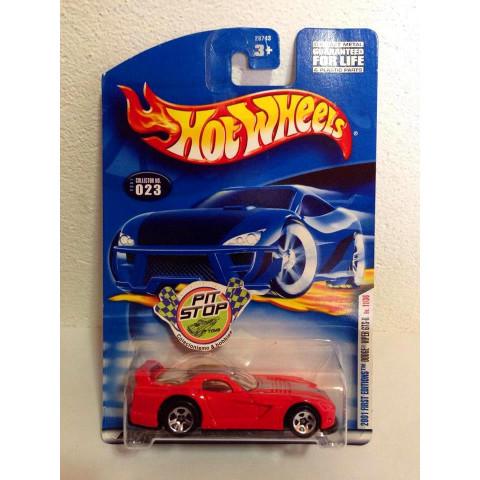 Hot Wheels - Dodge Viper GTS-R Vermelho -  Mainline 2001