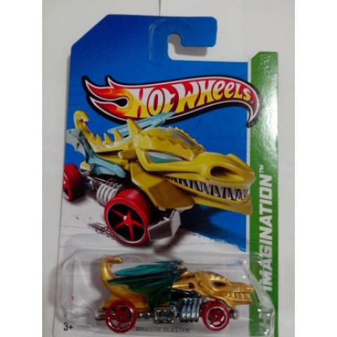 Hot Wheels - Dragon Blaster Dourado - Mainline 2013