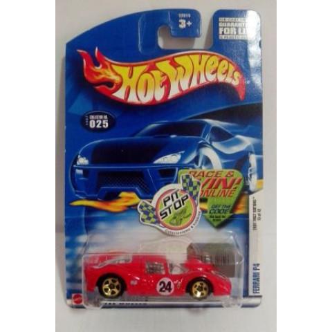 Hot Wheels - Ferrari P4 Vermelho - Mainline 2002
