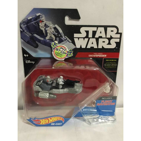 Hot Wheels - First Order - SnowSpeeder Prata - Star Wars