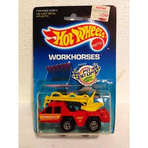 Hot Wheels - Flame Stopper Vermelho - Mainline 1987