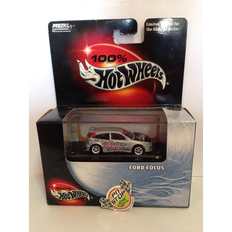 Hot Wheels - Ford Focus Cinza - Black Box - 100%