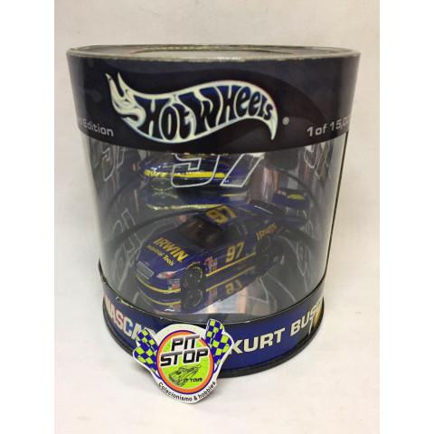 Hot Wheels - Ford Taurus Azul - Kurt Busch - Oil Can  - Nascar