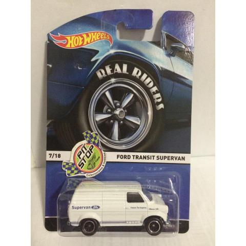 Hot Wheels - Ford Transit Supervan Branco - Heritage - Real Riders