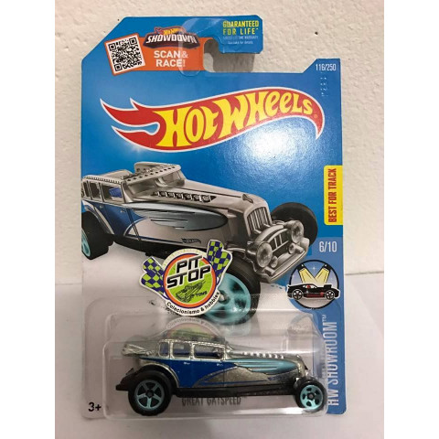 Hot Wheels - Great Gatspeed Prata - Zamac 2016
