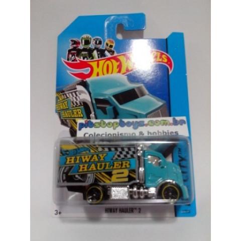Hot Wheels - Hiway Hauler 2 Azul - Mainline 2014
