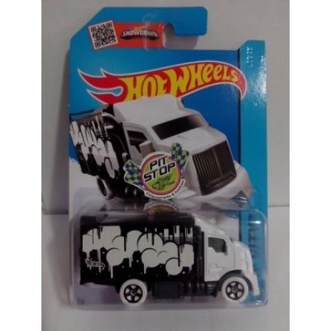 Hot Wheels - Hiway Hauler 2 Branco - Mainline 2015