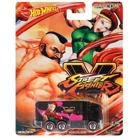 Hot Wheels - Hiway Hauler Preto - Street Fighter - Capcom