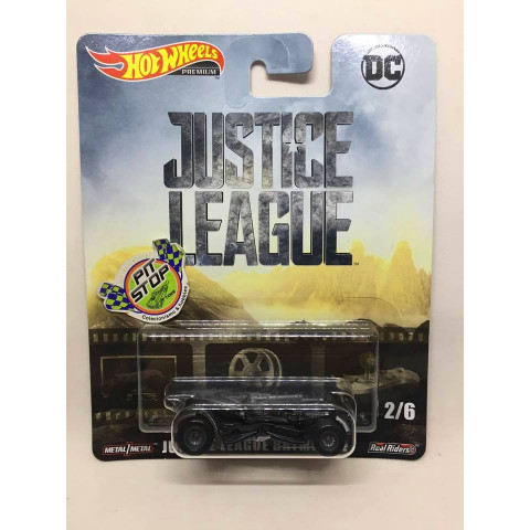 Hot Wheels - Justice League Batmobile Preto - DC - HW Premium