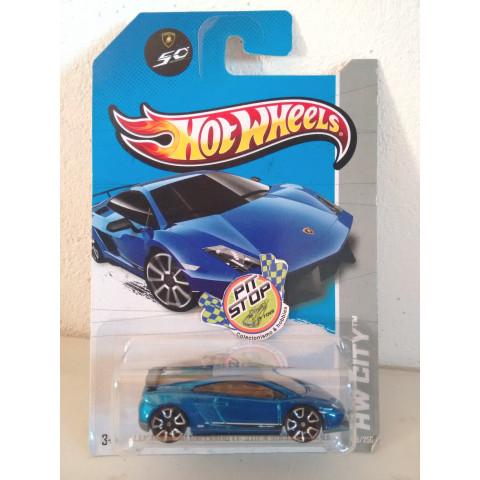 Hot Wheels - Lamborghini Gallardo LP 570-4 Superleggera Azul - Mainline 2013