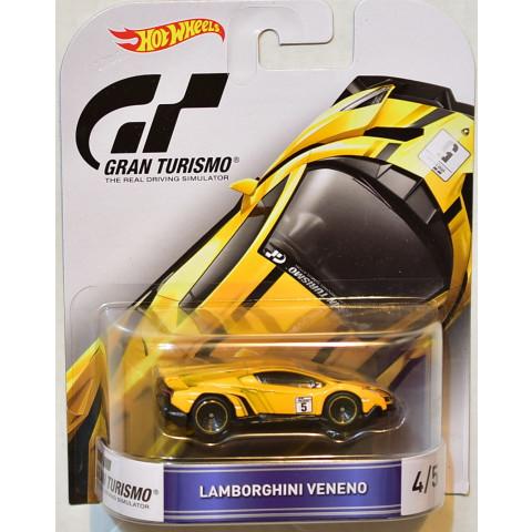Hot Wheels - Lamborghini Veneno Amarela - Gran Turismo - Retro