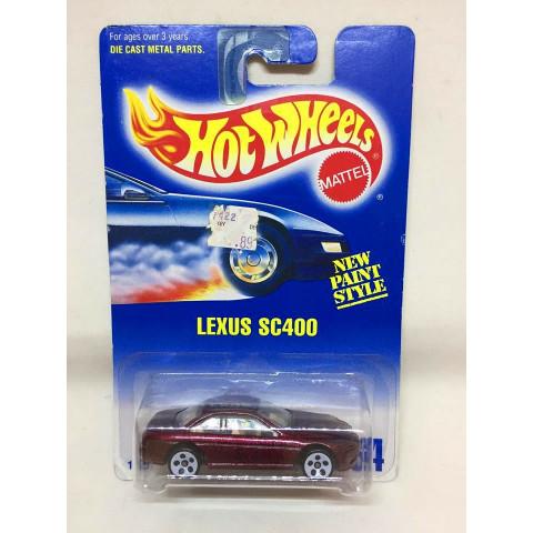 Hot Wheels - Lexus SC400 Vermelho  - Mainline 1992