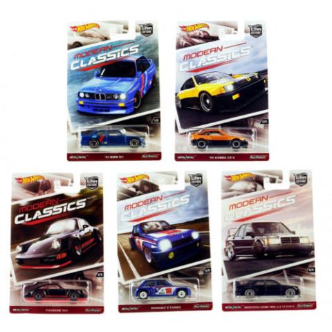 Hot Wheels - Lote K Completo com 05 Miniaturas - Modern Classics - Car Culture