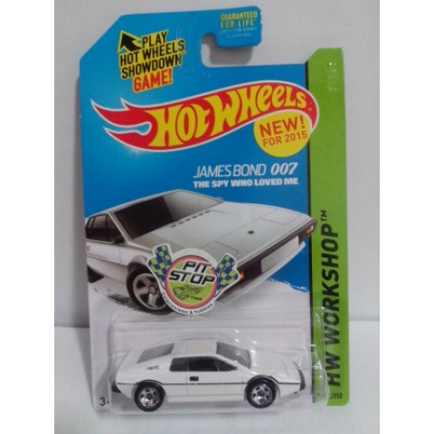 Hot Wheels - Lotus Esprit S1 Branco - Mainline 2015 - James Bond 007