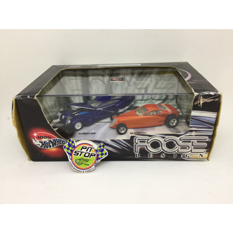 Hot Wheels - Manhattan Azul & Hamisfear Laranja - Foose - Hot Wheels 100%