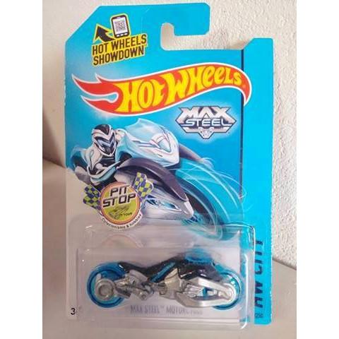 Hot Wheels - Max Steel Motorcycle Azul - Mainline 2014