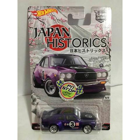 Hot Wheels - Mazda RX-3 Roxo - Japan Historics  - Car Culture