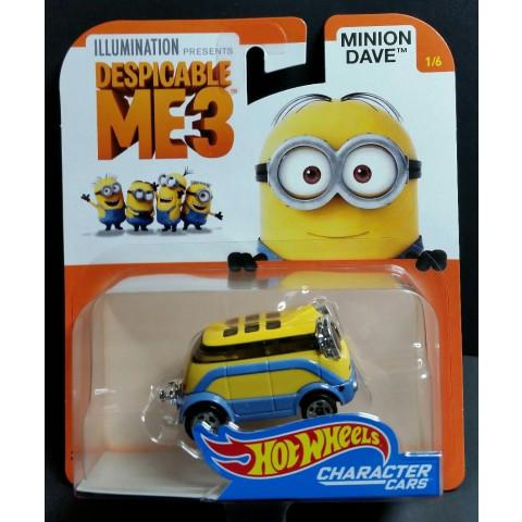 Hot Wheels - Minion Dave - Despicable Me3 - Meu Malvado Favorito 3