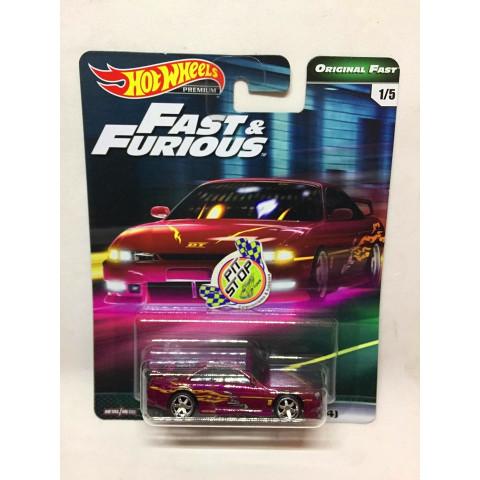 Hot Wheels - Nissan 240SX (S14) Rosa - Fast & Furious - Original Fast - HW Premium