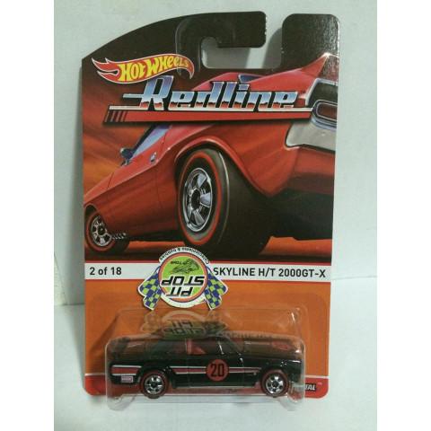 Hot Wheels - Nissan Skyline H/T 2000GT-X Preto - Heritage - Redline