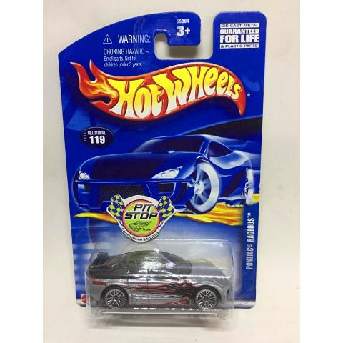 Hot Wheels - Pontiac Rageous Prata -  Mainline 2002