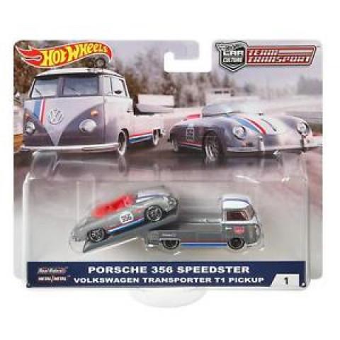 Hot Wheels - Porsche 356 Speedster & Volkswagen Transporter T1 Pickup - Team Transport