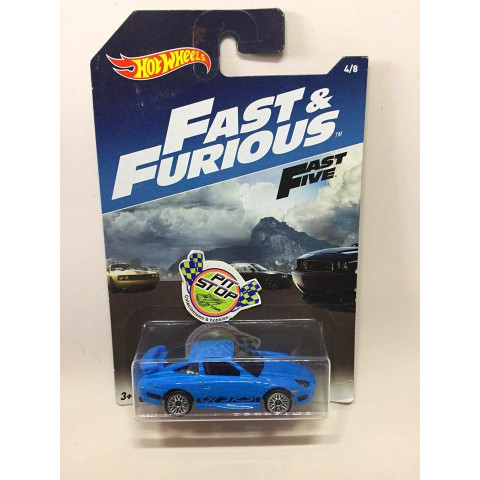 Hot Wheels - Porsche 911 GT3 RS Azul - Fast & Furious - Fast Five