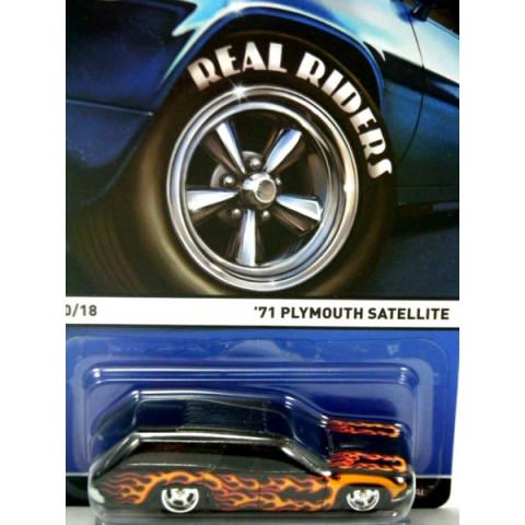 Hot Wheels - 71 Plymouth Satellite Preto - Heritage - Real Rides