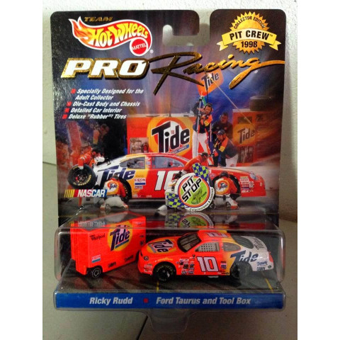 Hot Wheels - Ricky Rudd - Ford Taurus And Tool Box Laranja - Nascar - Pro Racing