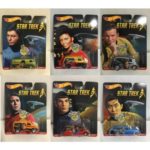 Hot Wheels - Set Star Trek Pop Culture - Lote Com 06 Miniaturas