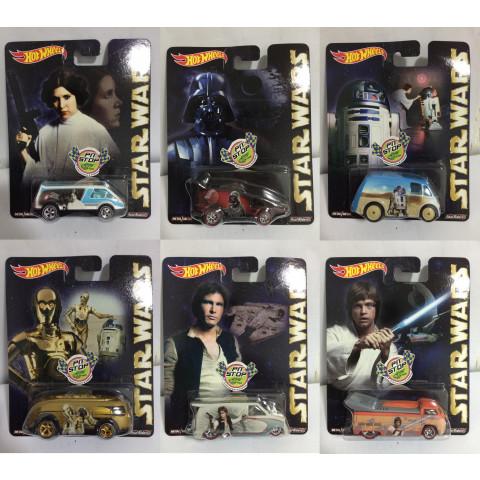 Hot Wheels - Set Star Wars Pop Culture - Lote Completo com 06 Miniaturas