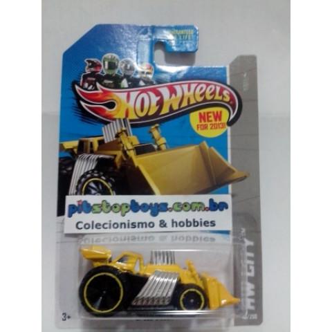Hot Wheels - Speed Dozer Amarelo - Mainline 2013