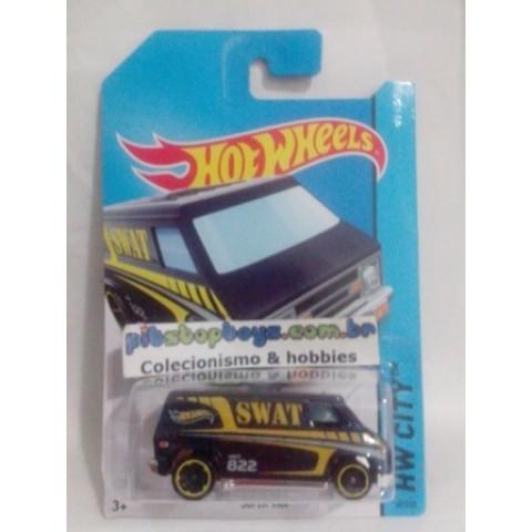 Hot Wheels - Super Van Preto - Mainline 2014