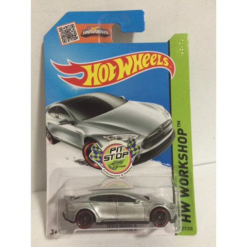 Hot Wheels - Tesla Model S Prata - Mainline 2015
