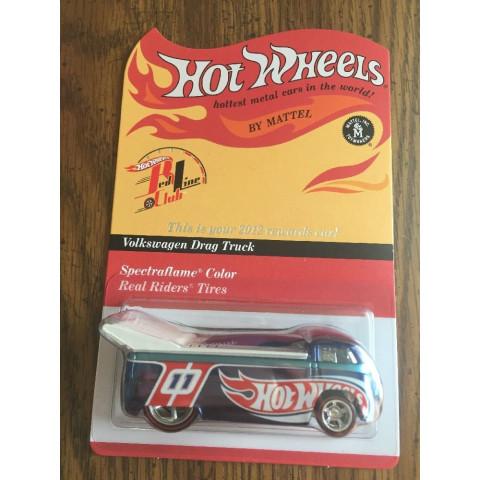 Hot Wheels - Volkswagen Drag Truck Azul - Red Line Club
