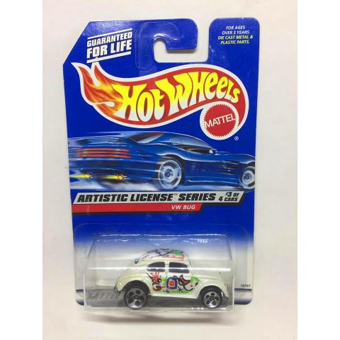 Hot Wheels - VW Bug Branco - Mainline 1998