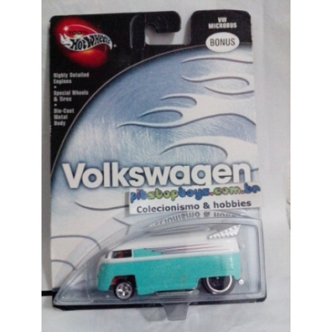 Hot Wheels - VW Microbus Verde - Drag Bus - Volkswagen 100% Hot Wheels