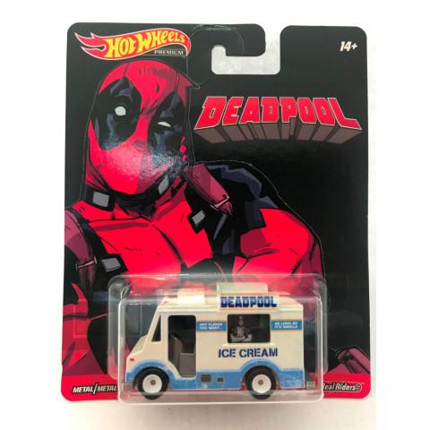 Hot Wheels - Deadpool Ice Cream Truck Branco - Retro