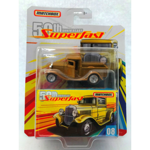 Matchbox - 32 Ford Pickup Matchbox Superfast Amarelo - 50 th Anniversary Superfast