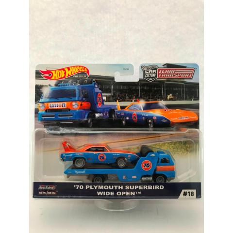 Hot Wheels - 70 Plymouth Superbird Wide Open - Team Transporte