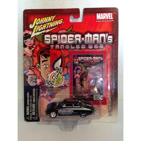 Johnny Lightning - 1949 Mercury Preto - Spider Man