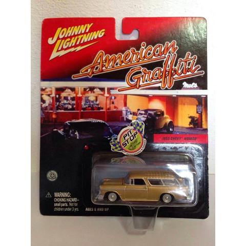 Johnny Lightning - 1955 Chevy Nomad Dourado - American Graffiti