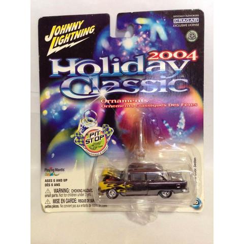 Johnny Lightning - 55 Chevy 2-Door Sedan Cromado - Holiday Classic 2004