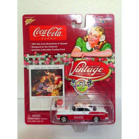 Johnny Lightning - 1955 Chrysler C300 Vermelho - Vintage - Coca Cola
