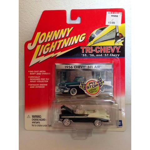 Johnny Lightning - 1956 Chevy Bel Air Verde - Tri Chevy