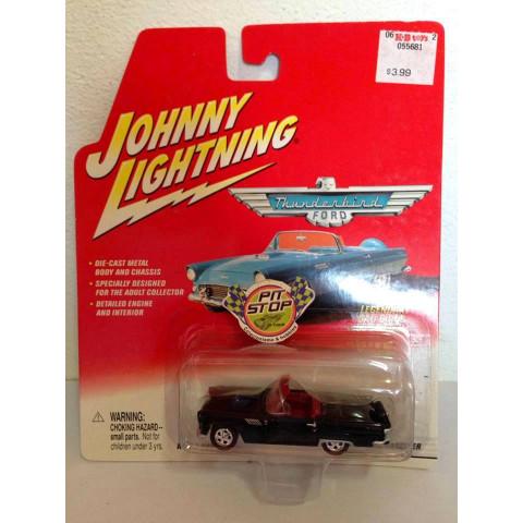 Johnny Lightning - 1956 T-Bird Roadster Preto - Thunderbird Ford