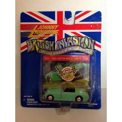 Johnny Lightning - 1960 Austin-Healey Sprite Verde - British Invasion
