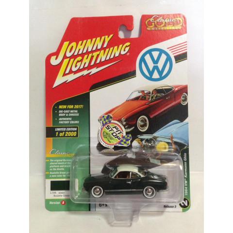 Johnny Lightning - 1964 VW Karmann Ghia Verde - Classic Gold Collection