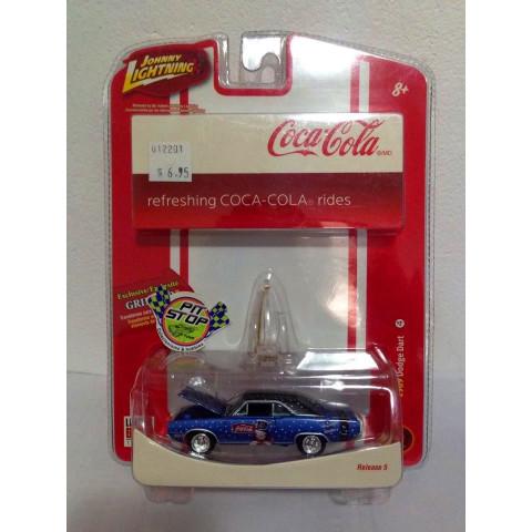 Johnny Lightning - 1969 Dodge Dart Azul - Coca Cola
