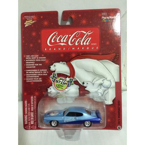 Johnny Lightning - 1971 Pontiac GTO - Coca Cola